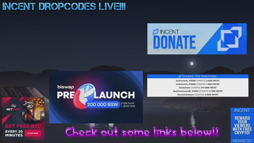 PRO INCENT DROPS ARE ON! || Free ways to earn crypto! || Music and Chill!